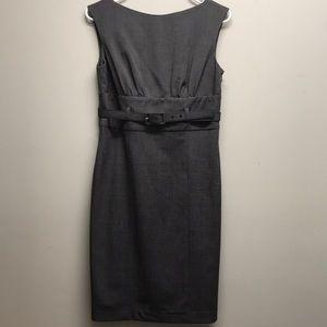 Adrienne Vittadini gray career sleeveless dress 4